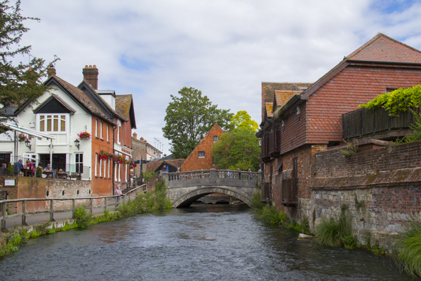 The River Itchen flows into Winchester