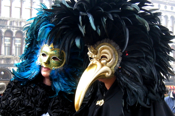 Masqueraders in Venice