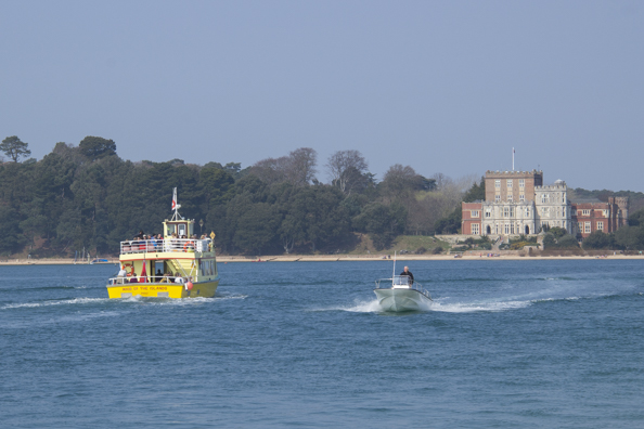 Brownsea Island ferry on its way to the island