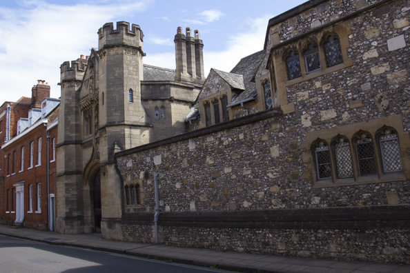 One of the colleges of Winchester College in Winchester