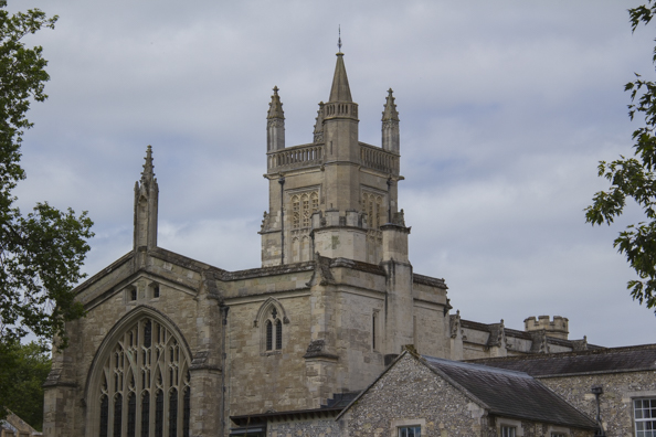 The church of Winchester College in Winchester