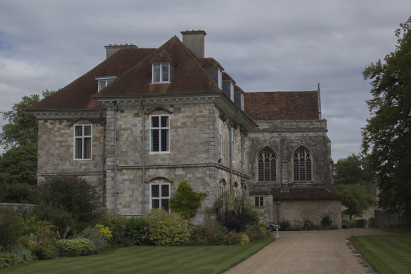 Modern bishiop's palace at Wolvesley Castle in Winchester