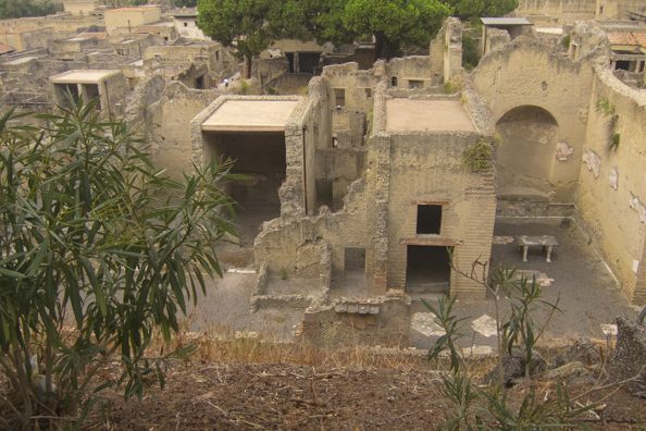 The ruins at Herculaneum in Italy