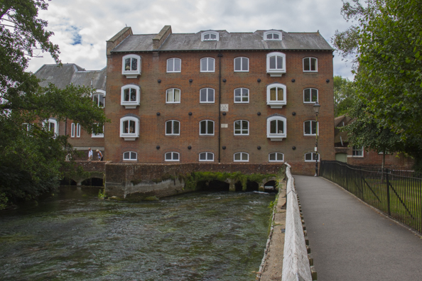 Wharf Mill and Warehouse on the River Itchen in Winchester