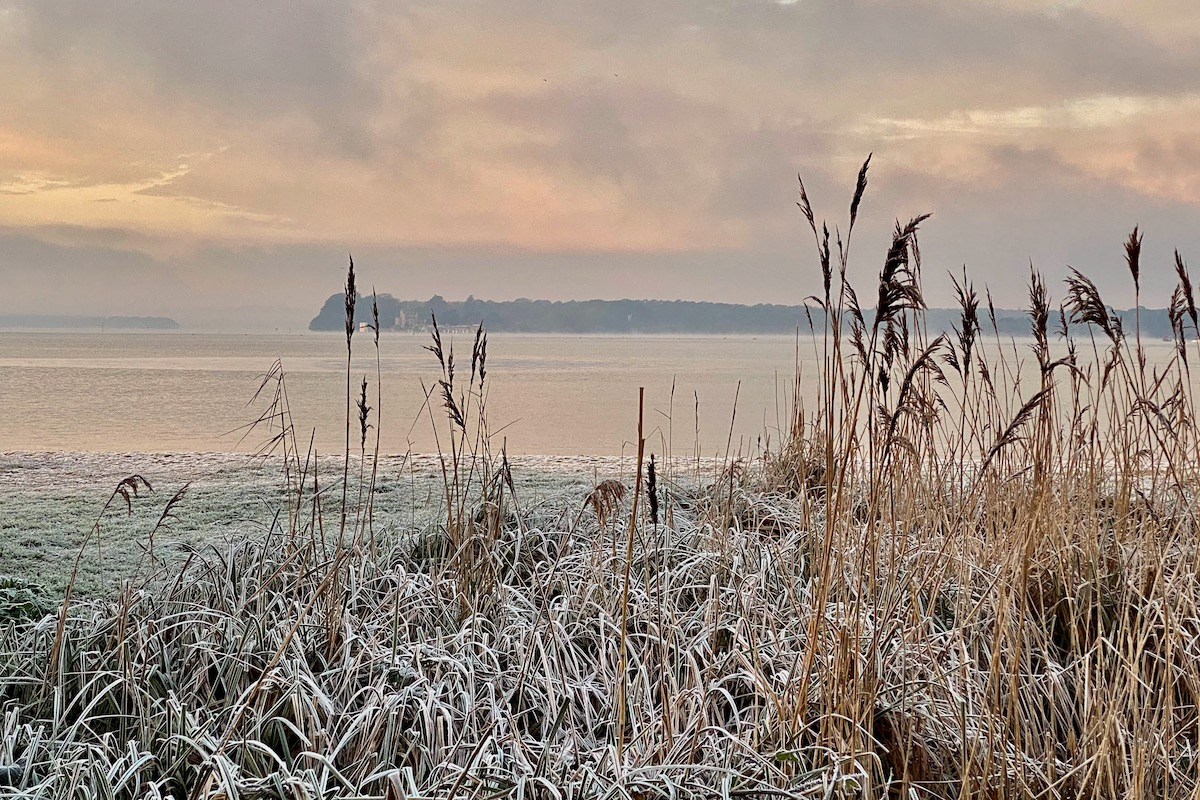 A Frosty Morning by Poole Harbour in Dorset