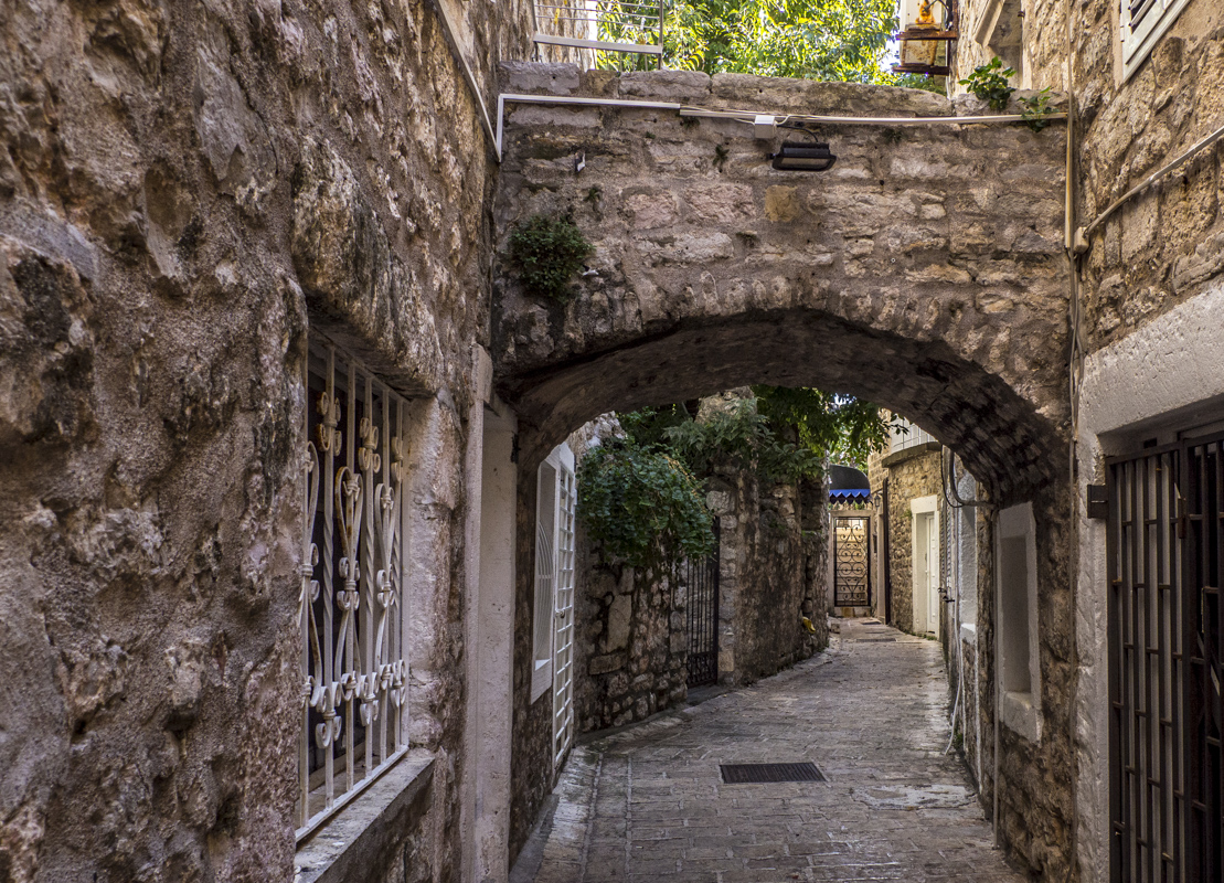 A Street in the Old Town of Budva in Montenegro 150257
