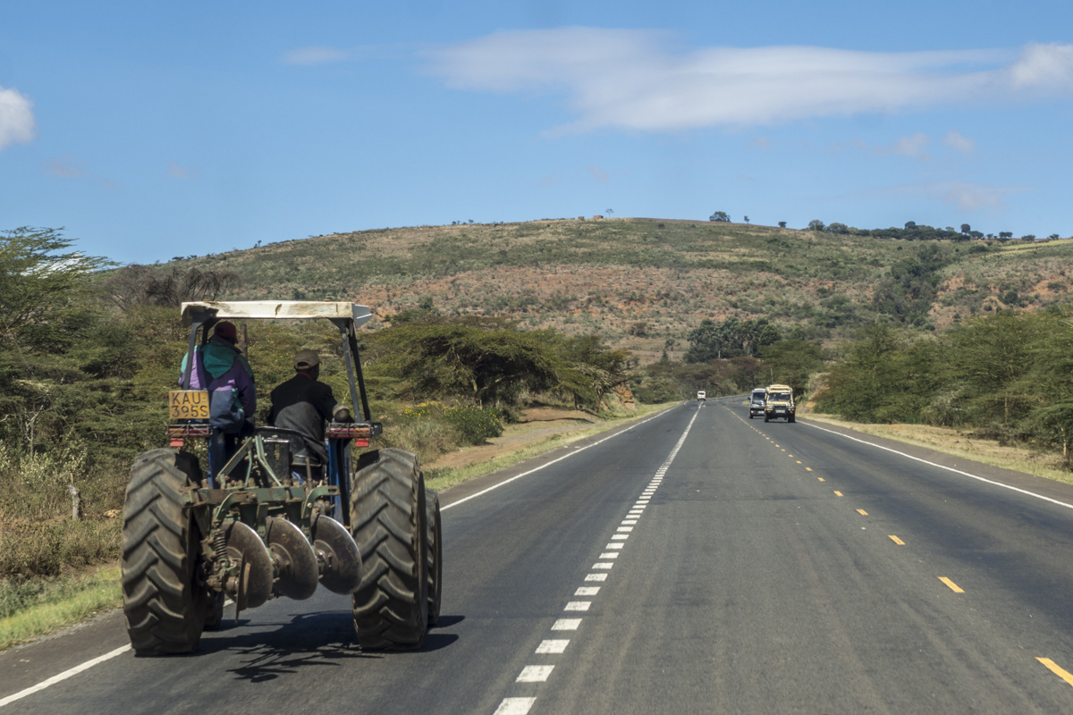 A tractor trundles along the Kenya  1010006