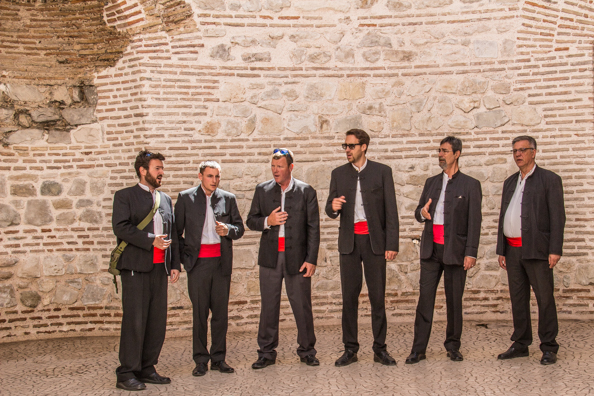 Acapella singers in Split in Croatia