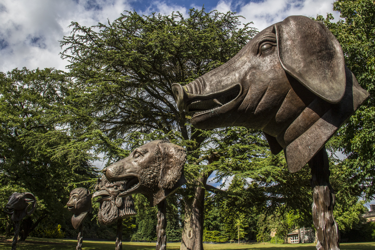 Ai Weiwei's Circle of Animals   Zodiac Heads in the Yorkshire Sculpture Park, Yorkshire, UK  0650