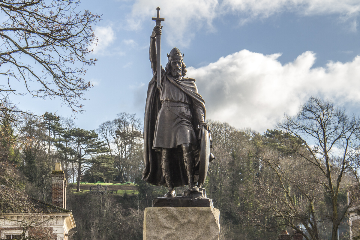 Alfred the Great in Winchester, Hampshire, UK 99