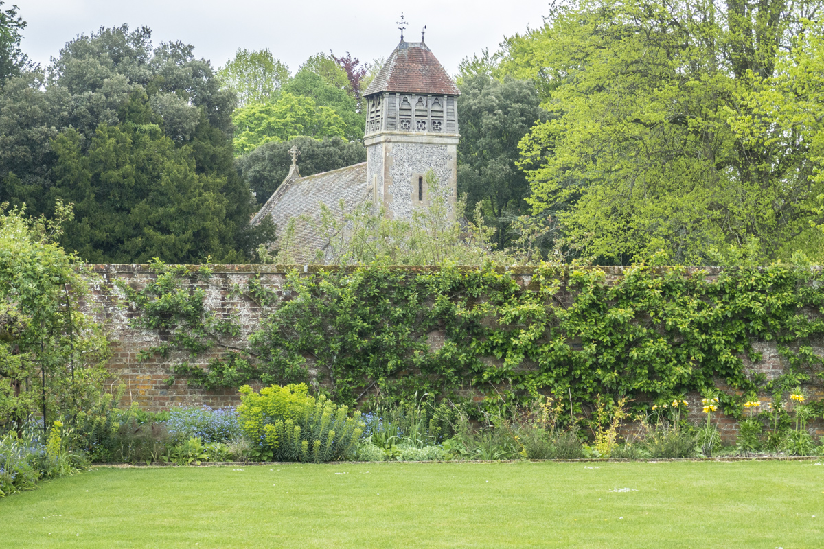 All Saints Church overlooking the Gardens at Hinton Ampner in East Hampshire  5014049