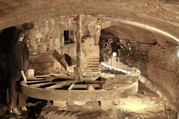 Ancient oil mill below Ospedale del Ceppo in Pistoia, Tuscany