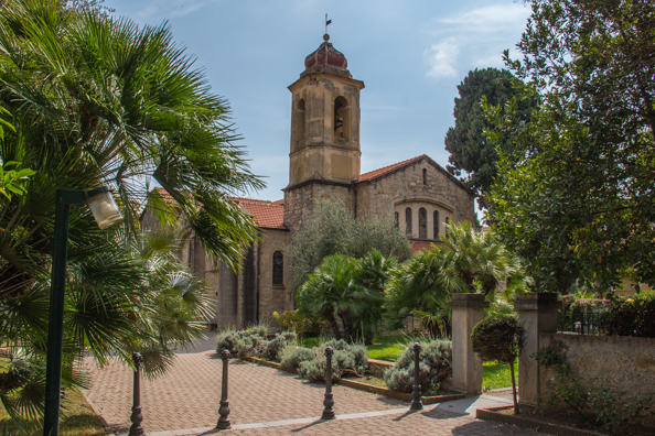 Anglican Church in Bordighera, Liguria in italy