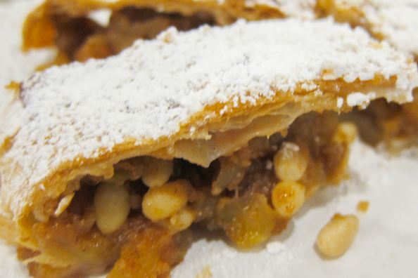 Apple strudel from Trentino in Italy