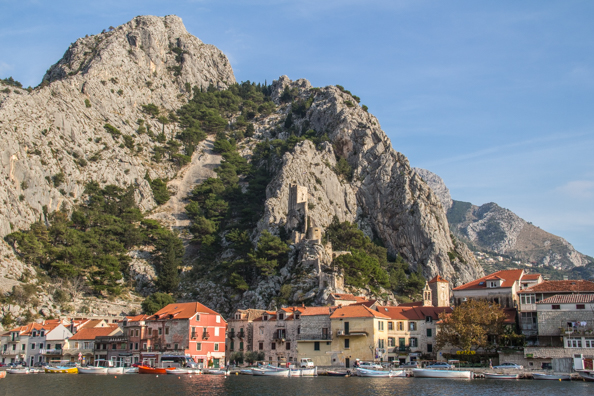 Arriving in Omis, Croatia by boat on the River Cetina