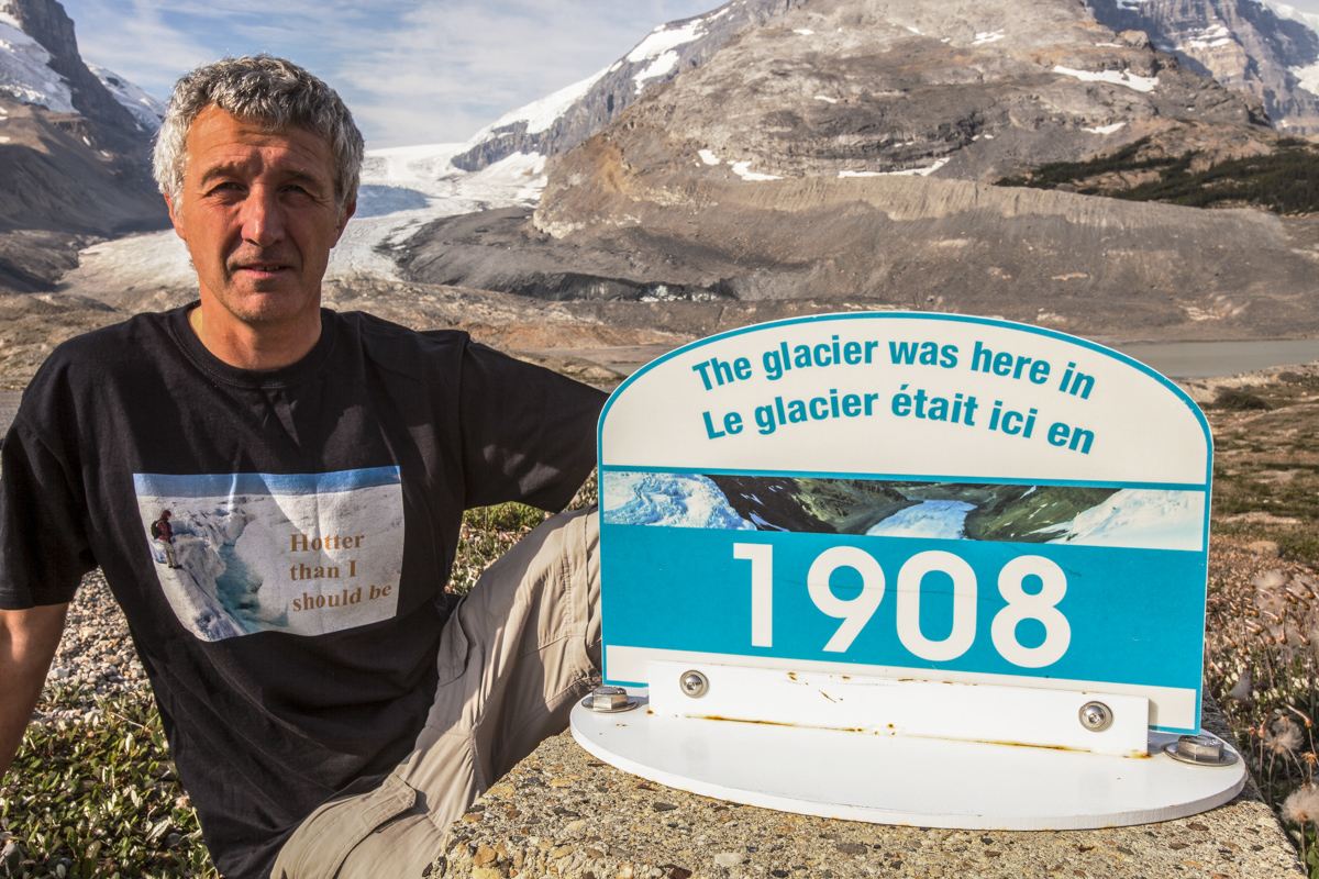 Ashley Cooper by a disappearing glacier
