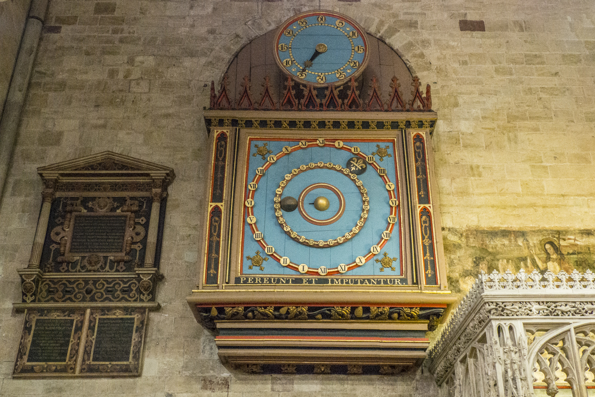 Astronomical Clock in the Cathedral in Exeter, Devon 060426