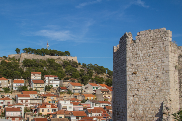 Barone Fortress from Saint Michael's Fortress in Šibenik in the Dalmatia region of Croatia