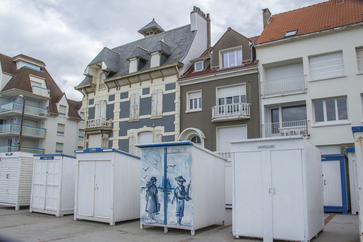 Beach Huts at Wimereux on the Opal Coast in France 0073