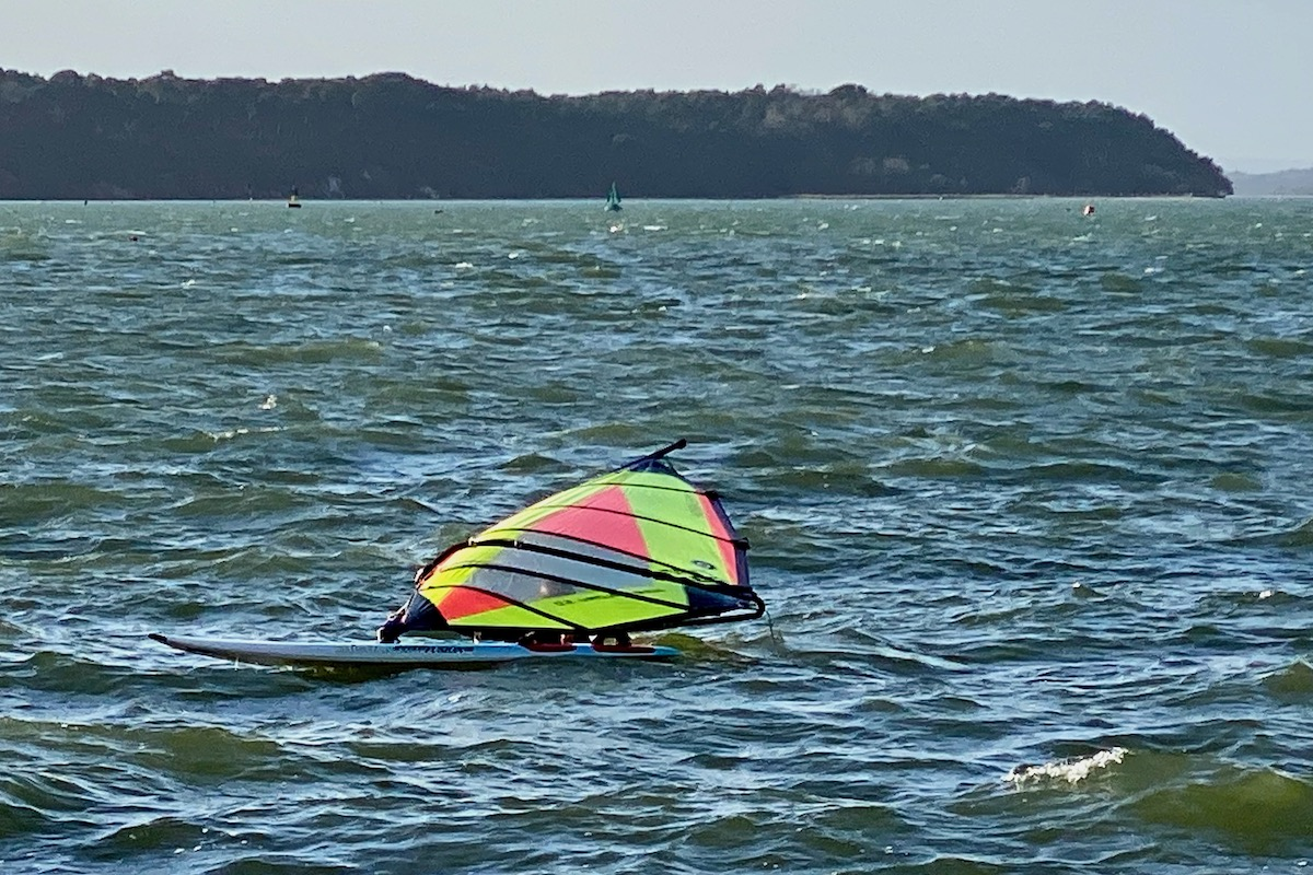 Beaten by the Wind in Poole Harbour
