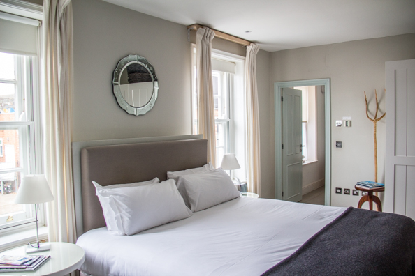 Bedroom at the Crown in Woodbridge, Suffolk