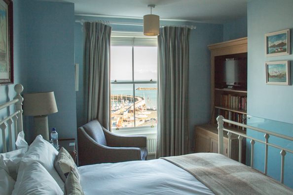 Bedroom at the Royal Harbour Hotel, Ramsgate, Kent