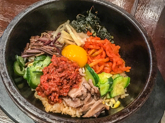 Bibimbap a traditional dish in South Korea