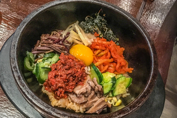 Bibimbap a traditional South Korean dish