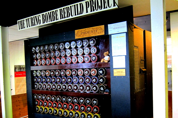 A bombe machine at Bletchley Park in Buckinghamshire