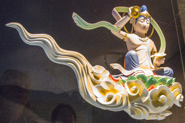 Bodhisattva on a cloud in the museum of the Byodoin Temple in Uji, Japan