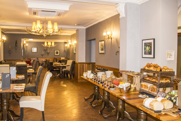 Breakfast at the Balmer Lawn Hotel, Brockenhurst in the New Forest, England