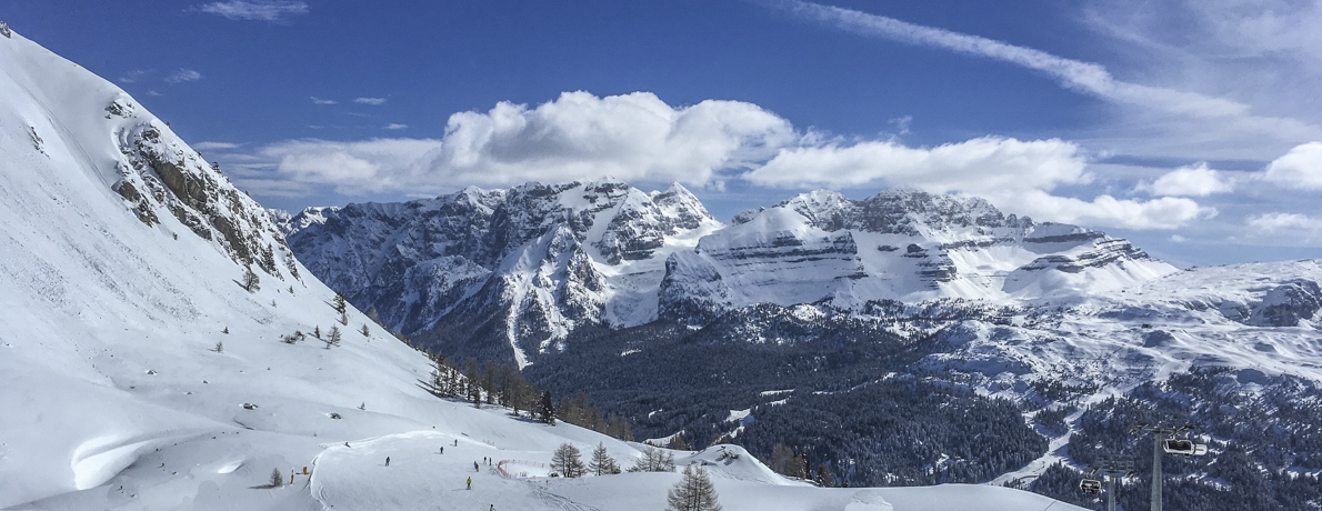 Four Resorts, One SkiArea in the Italian Dolomites