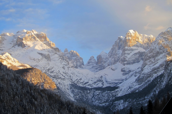 Brenta Dolomites from the Hotel Lorenzetti