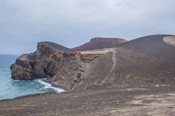 Capelinhos Volcano on Faial Island in the Azores