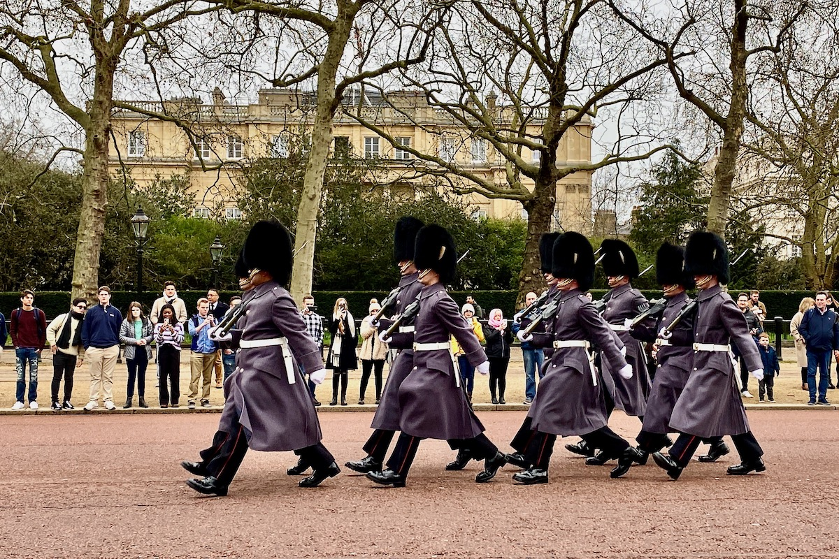 Changing Guards at Buckingham Palace in London