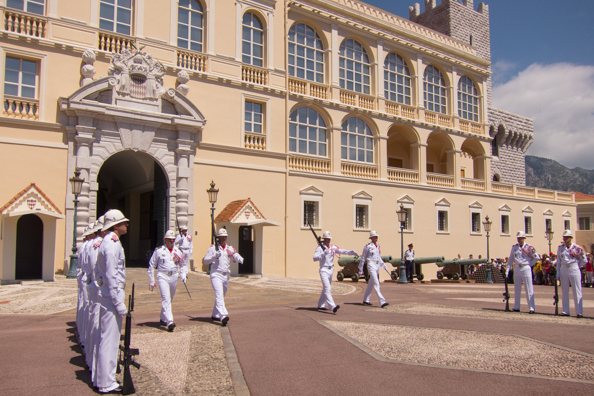 Changing the Guard at the Royal Palace in Monaco