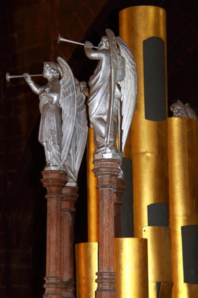 Organ pipes in Chester Cathedral