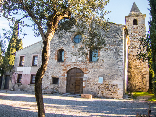 Chiesa San Pietro in Mavino in Sirmione on Lake Garda in Italy
