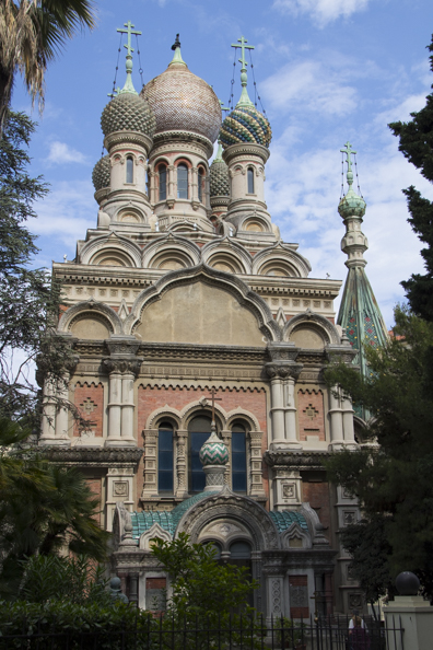 Christ the Saviour Russian Orthodox Church in Sanremo, Liguria in Italy