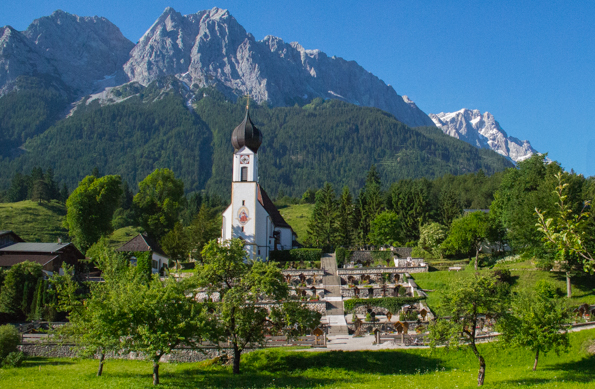 Church of St John in Grainau near Grainau, Garmisch-Partenhirche in  Bavaria