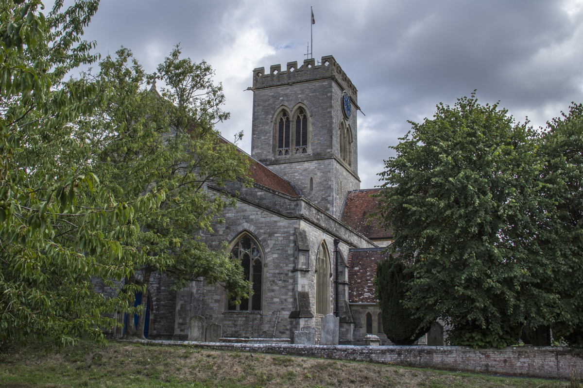 Church of St Peter and St Paul in Ringwood, New Forest, UK 2025