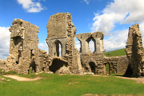 The ruins of Corfe Castle in Dorset