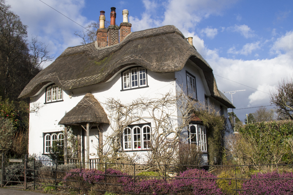 Cottage on Swan Green in Lyndhurst in the New Forest. England