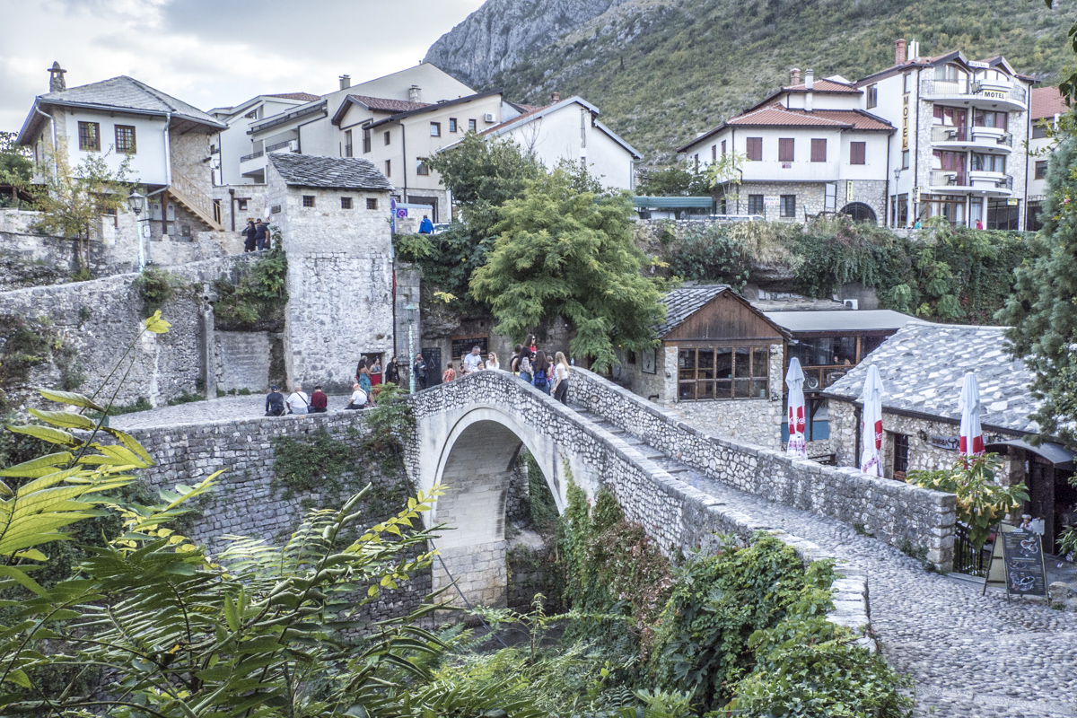 Crooked Bridge of Mostar in Bosnia and Herzegovina  190779