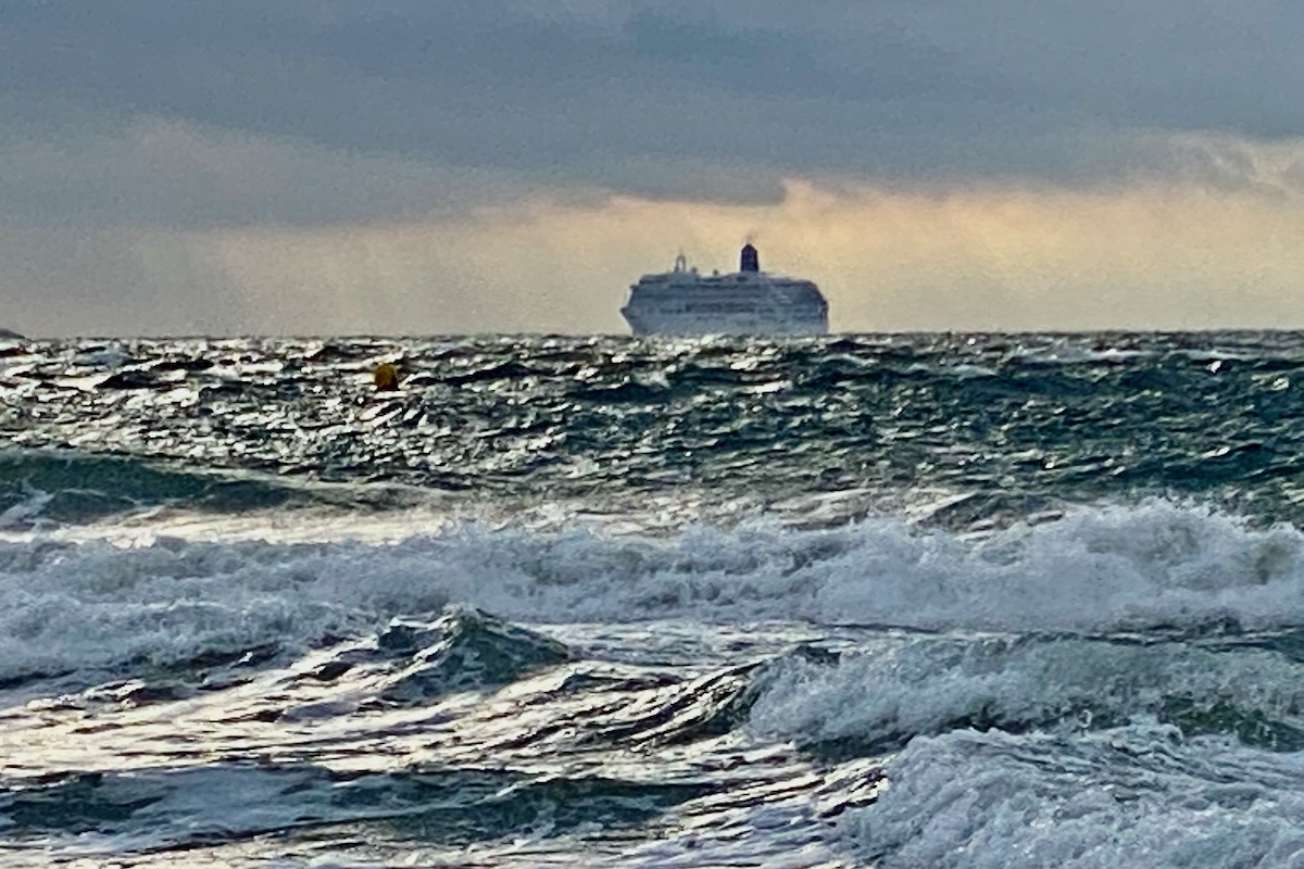 Cruise Ship on the Horizon