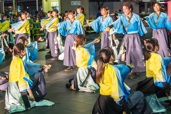 Dance competition in the station of Kyoto in Japan