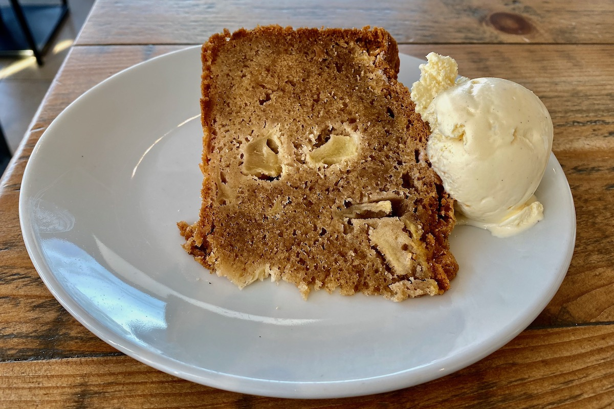 Dorset Apple Cake at the 1859 Pier Café and Bistro