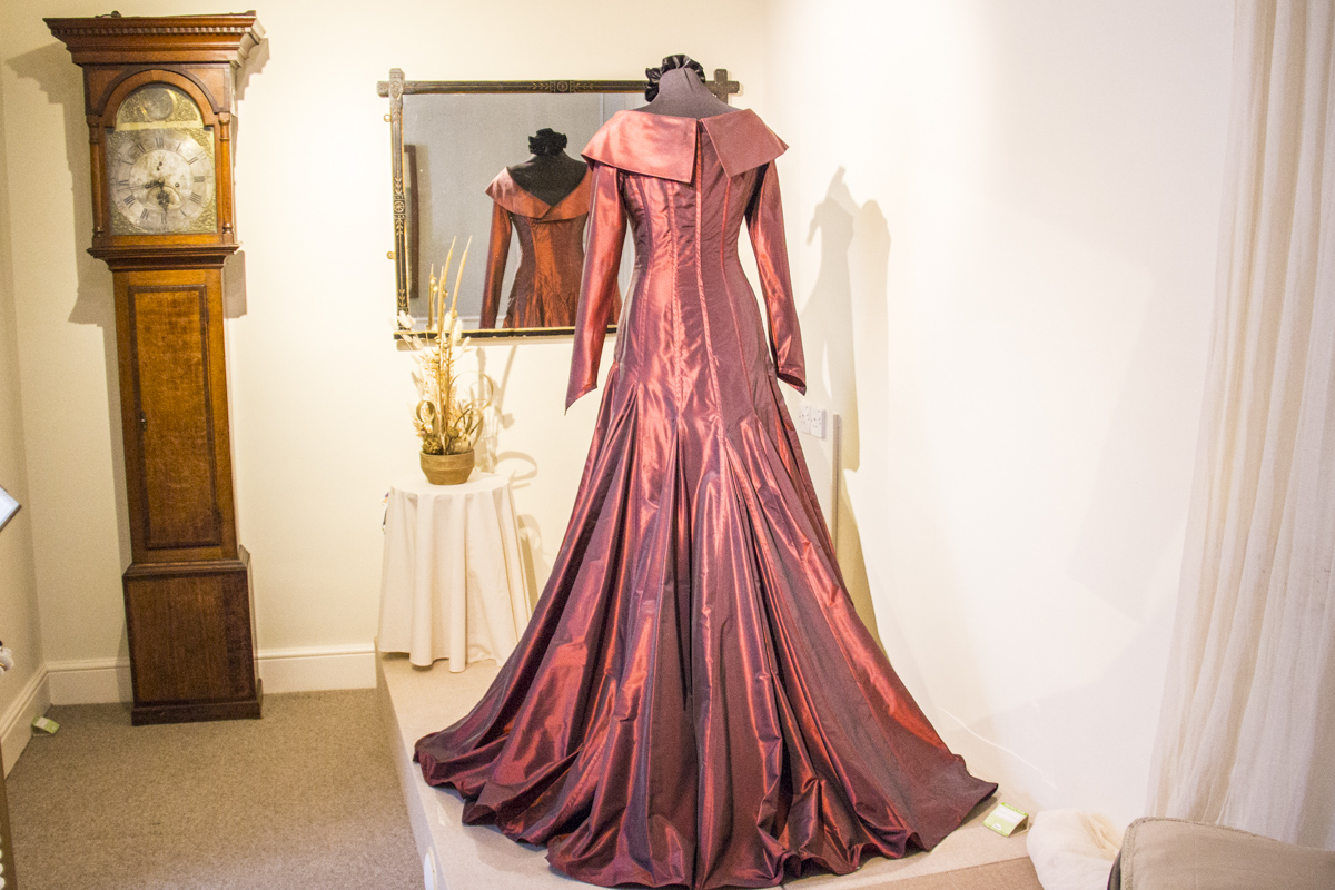 Dress from the Bruce Oldfeird Archive Collection on loan to the Fashion Museum in Blandford Forum, Dorset UK 1827