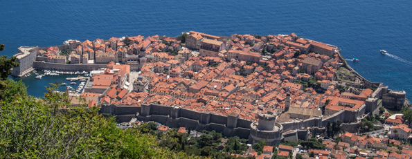 Three Tiers of Dubrovnik in Croatia
