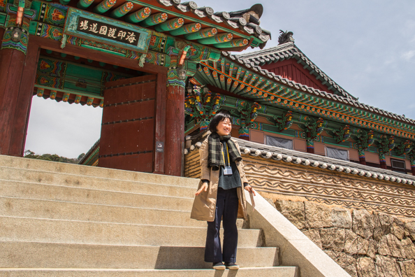 Ellison at Haeinsa Temple in South Korea